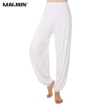 d454cdf78a8 MAIJION Women High Waist Yoga Pants Loose Breathable Belly Dance