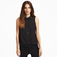 Sander Sleeveless Snap-Front Top