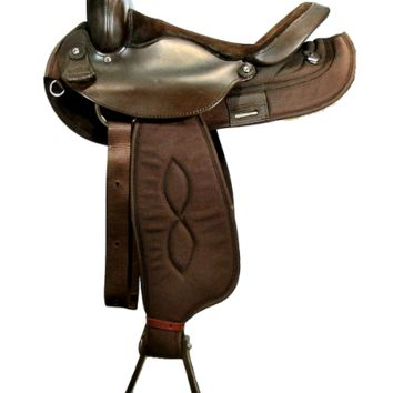 "Big Horn 15""-16"" BLK or BRWN Synthetic Trail Saddle QH Bars"