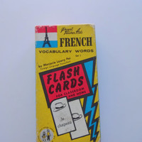 Vintage French Flash Cards 1959