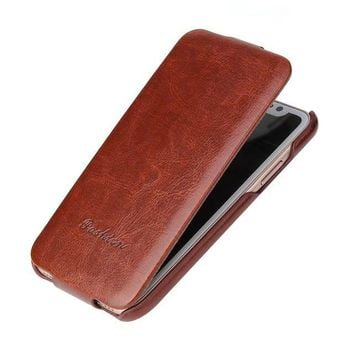 For iphone X case Luxury Flip Vertical ancient 64lines PU Leather Case for iPhone 7 /8 6 6S Up to Down shell Cover for iphone 10