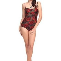 Too Fast Rose Leopard Ari Swimsuit - 301210