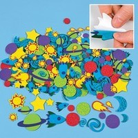 Fun Express Outer Space Self Adhesive Solar System Craft Stickers - 500 Pieces