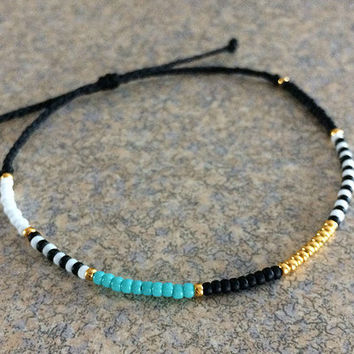 Tribal Friendship Bracelet - Best Friend Gift - Best Friend Bracelet - Gift for Her - Charm Bracelet - Turquoise Bracelet