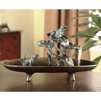 SPI Home Collection Frog Couple Table Fountain