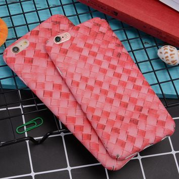 Phone Cases For iPhone 6s 6 7 plus Lovely Cute Love Heart Candy Color 3D Weave Cactus Matte Cover Capa Coque For iPhone 6s Case