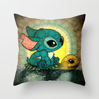 Swimming Stitch Throw Pillow by Alohalani