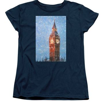 Pastel Painting Of Big Ben Tower In London - Women's T-Shirt (Standard Fit)