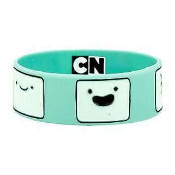 Licensed cool NEW Adventure Time With Finn and Jake - BMO Beemo Face Green Rubber Bracelet