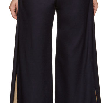 Navy Exposed Lining Trousers