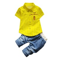 Toddler boys clothing set shirt+jeans