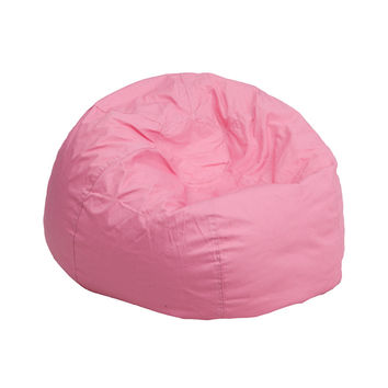 Small Solid Light Pink Kids Bean Bag