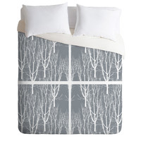 Karen Harris Looking Out in Ash Duvet Cover