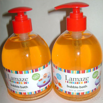 Lot 2 Lamaze Bubble Bath Baby 16oz Organic No Tears Orange Scent Hypo Allergenic