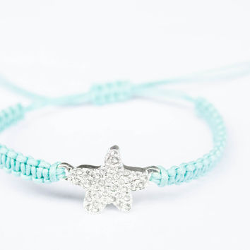 Starfish Bracelet with Pacific Green