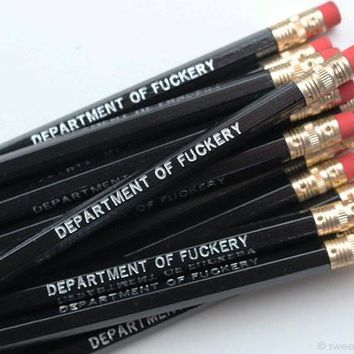 Department of Fuckery Pencil Set in Black