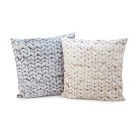 Chunky Knit Printed Throw Pillow | Creative Home Decor; Home Accents