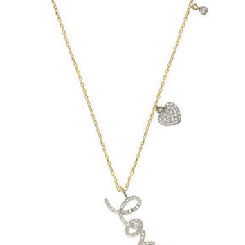 YellOra™ Diamond Necklace, YellOra™ Diamond Love Drop Necklace (1/4 ct. t.w.) - Necklaces - Jewelry & Watches - Macy's