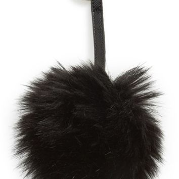 Junior Women's Nila Anthony Faux Fur Ball Keychain