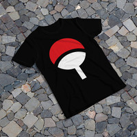 "THE SAMPLE size of the print image on the T-Shirt 12""x16"" Uchiha Logo"