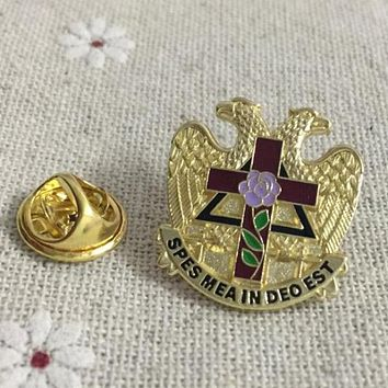 Scottish Rite Rose Croix Cross 32 Degree Masonic Lapel Pin
