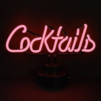 Cocktails Neon Sculpture