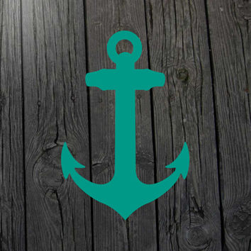 Anchor decal Nautical decal Nautical wall decal Anchor wall decal Nautical car decal Anchor car decal Anchor laptop decal Nursery decal