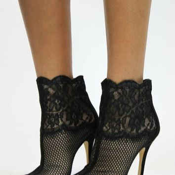 Jeopardy Mesh Bootie in Black | Chinese Laundry