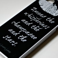 The Great Gatsby iPhone Case Black - Quote iPhone Case 4/4S/5 - Literary iPhone Case - Word Art  - Typography iPhone Case