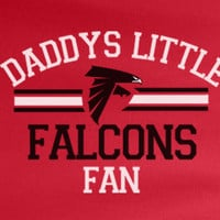 Red Custom 2 Color Daddys Little Atlanta Falcons Fan Football Tee Tshirt T-Shirt