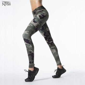 CREYCI7 S-QVSIA New Camo Printed Sporting Women Leggings Sexy Fitness Lady High Waist Legging Gymming Leggins For Women