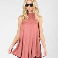 Flowy Mock Neck Dress