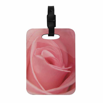 "Angie Turner ""Soft Pink"" Pink Rose Decorative Luggage Tag"