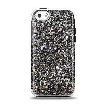 The Small Dark Pebbles Apple iPhone 5c Otterbox Symmetry Case Skin Set
