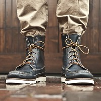 Oak Street Bootmakers | Navy Hunt Boot - Footwear