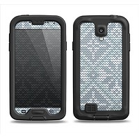 The Knitted Snowflake Fabric Pattern Samsung Galaxy S4 LifeProof Fre Case Skin Set