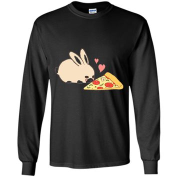 Cute Bunny Shirt: Kawaii Rabbit Pizza Hearts T-shirt