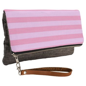 pretty pastel stripes clutch