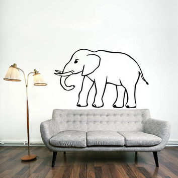 Wall Decal Vinyl Sticker Decals Art Home Decor Design Mural Elephant Animals Jungle Safari African Kids Children Nursery Baby Bathroom AN56