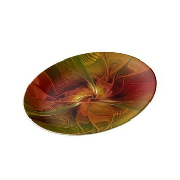 Warmth, Abstract Fractal Art Dinner Plate