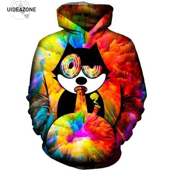 Animal Cat 3D Hoodie Sweatshirt Men Women New Fashion Crewneck Autumn Winter Plus Size Clothing Casual Sportswear Tracksuit 5XL