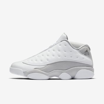 Best  Deal Online Nike AIR JORDAN 13 RETRO LOW White/Pure Platinum/Metallic Silver/Metallic Silver 310810-100