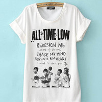 Limited Edition Cheap shirt ALL TIME LOW lyrics T Shirts Mens and t shirt girl Size Available in PateniElah
