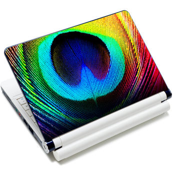 """Colorful Peacock Art Anti-Slip Laptop Sticker Skin Decal Cover Protector For 11.6"""" -15.4"""" Sony Toshiba HP Dell Acer Thinkpad"""