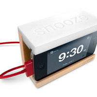 Snooze - The iPhone Alarm Dock with a Big Snooze Bar