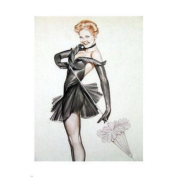WWII Pin-up Girl Blaine Vivian POSTER 24X36 Sexy Costume SPIRITED REDHEAD
