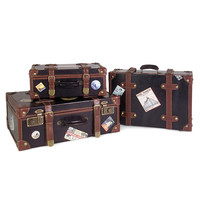 3-Pc. Vintage Luggage Set