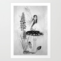 My childhood fantasy-Fairy Fairy Fairy Art Print by Color and Color