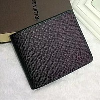 Louis Vuitton Men Fashion Leather Wallet Purse