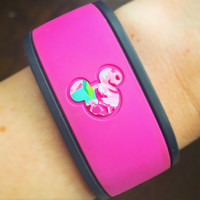 Magic Band 1.0 & 2.0 ORIGINAL Lilly Pulitzer inspried MICKEY HEAD decal